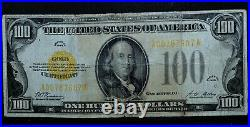 1928 $100 Gold Certificate Vg Very Good Net Apparent L@@k Now Trusted