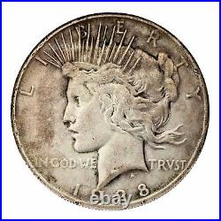 1928 Silver Peace Dollar $1 (Good+ to Very Good, G+ to VG Condition)