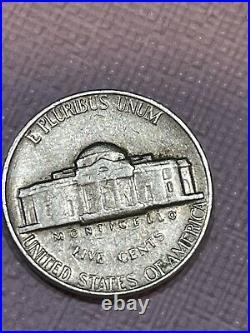 1964 Jeffrsen Nickle Error No Mint Mark Very Rare. Good Condition