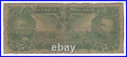 $5.00 1896 Silver Certificate, Educational Banknote, FR# 269, VG, Affordable