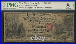 $5=ORIGINAL=Fr. 397=NATIONAL PARK BANK of New York (NY)=PMG VERY GOOD 8