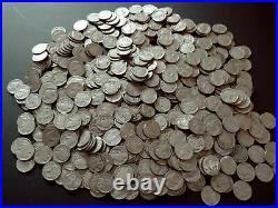 500 Mixed Full Dates Indian Head Buffalo Nickels Very Good -Very Fine No Junk