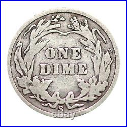 90% Silver Barber Dimes $5 Face (Roll of 50) Circulated