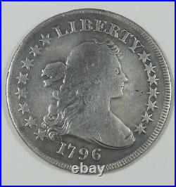 BARGAIN 1796 Draped Bust Silver Dollar Small Eagle reverse VERY GOOD