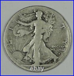 BARGAIN 1916-S Walking Liberty Half Dollar VERY GOOD Silver 50-Cent