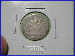 BETTER DATE 1860-o Seated Liberty Dime, Very Good details, CLEARANCE
