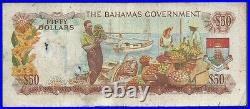 Bahamas $50 P24a 1965 Very Good and a very rare note
