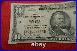 Bank of New York New York 1929 100, 50, 20, 10, 5. Five National Currency Notes