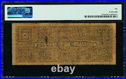 Brazil 1888 5 Mil Reis Pick A264 PMG 10 Very Good
