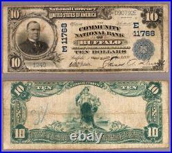 Buffalo NY $10 1902 PB National Bank Note Ch #11768 Community NB Very Good