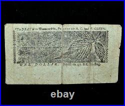 Colonial Currency Maryland April 10th 1774 Md-66 $1 Vg Very Good 71trusted