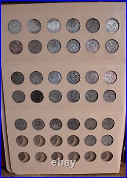 Complete Barber Dime Set 1892-1916 74 Coins In Dansco Album Good-very Fine