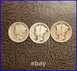 Complete Mercury Dime Set In Album With 1916 D Good + Condition Very Nice 77