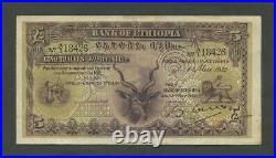 ETHIOPIA 5 thalers 1932 P7 Good Very Fine World Paper Money
