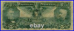 FR. 268 1896 $5 PMG Very Good 8 Silver Certificates Large