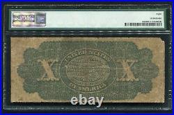 FR. 95b 1863 $10 TEN DOLLARS LEGAL TENDER UNITED STATES NOTE PMG VERY GOOD-8