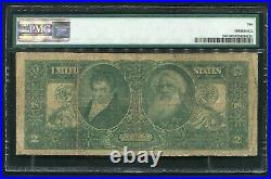 Fr. 248 1896 $2 Two Dollars Educational Silver Certificate Pmg Very Good-10