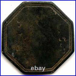 J. J. Wall Incuse Stamp Bullfrog, Nevada Trade Token Good For 12 1/2c Very Rare