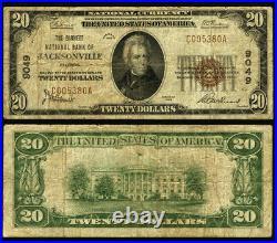 Jacksonville FL $20 1929 T-1 National Bank Note Ch #9049 Barnett NB VG