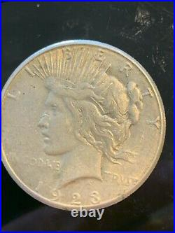 LOT OF 5 PEACE SILVER DOLLARS 90% SILVER 133 grams $100 melt Very Good plus