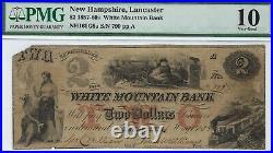 New Hampshire White Mountain Bank $2.00 PMG Very Good 10 Santa Claus