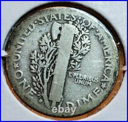 RARE 1916 D Mercury dime NICE VG VERY GOOD AUTHENTIC