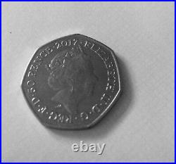 Rare 50p Jeremy Fisher for sale year 2017. Very good condition Circulated