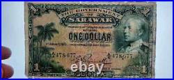 STRAITS MALAYA Sarawak MALAYSIA P-20 1935 1 Dollar PMG 10 VERY GOOD Rare