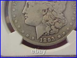 Scarce 1893 P Philadelphia Morgan Silver Dollar Ngc Vg8 Very Good 8 Full Liberty