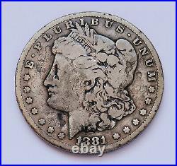 Semi-key! 1881-cc U. S. Morgan Silver Dollar Very Good Condition