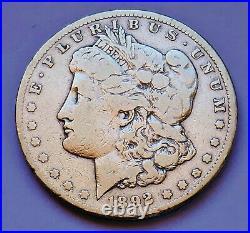 Semi-key! 1892-cc U. S. Morgan Silver Dollar Very Good Condition