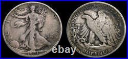 USA 1921-D Walking Liberty Half Dollar Denver Mint Toned Very Good 10 Rare